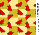 vector watermelon background...   Shutterstock .eps vector #2007786758