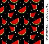 vector watermelon background...   Shutterstock .eps vector #2007792752