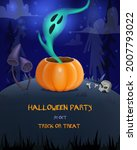 halloween creepy card for... | Shutterstock .eps vector #2007793022