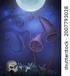 halloween card for design with... | Shutterstock .eps vector #2007793028