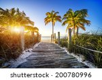 way to the beach in key west ... | Shutterstock . vector #200780996
