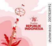 indonesia independence day... | Shutterstock .eps vector #2007828992