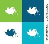 bird with sprig in its beak...   Shutterstock .eps vector #2007838202