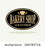 vintage bakery labels and... | Shutterstock .eps vector #200785718