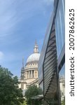 Small photo of A beautiful juxtaposition of St Paul's Cathedral with modern glass architecture
