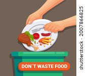 don t waste food  world food...   Shutterstock .eps vector #2007866825