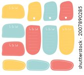 cute sticky note. stationary... | Shutterstock .eps vector #2007890285