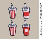 set of soft drink paper cups... | Shutterstock .eps vector #2007905522