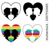 a set of lgbt couples logos...   Shutterstock .eps vector #2007910685