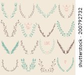 floral graphic design elements... | Shutterstock .eps vector #200792732