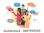 chat messaging communication... | Shutterstock .eps vector #2007949535