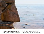 Big Rocks Boulders Pile On Sea...