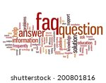 faq concept word cloud... | Shutterstock . vector #200801816