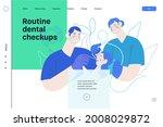 routine dental checkups  ... | Shutterstock .eps vector #2008029872