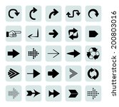 arrow icon set | Shutterstock .eps vector #200803016