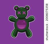 cute teddy bear doll hallowen... | Shutterstock .eps vector #2008075358