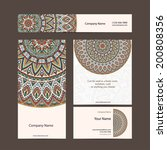 set retro business card. vector ... | Shutterstock .eps vector #200808356