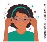 children vision checkup in... | Shutterstock .eps vector #2008121375