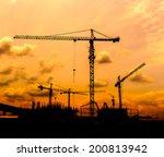 construction site crane... | Shutterstock . vector #200813942