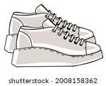 sportive sneakers on massive...   Shutterstock .eps vector #2008158362