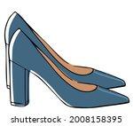 fashionable footwear for women  ...   Shutterstock .eps vector #2008158395