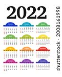 calendar for 2022 isolated on a ...   Shutterstock .eps vector #2008161998