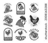 set of rooster meat emblems....   Shutterstock .eps vector #2008163288