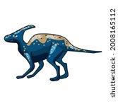 funny prehistoric hadrosaurs... | Shutterstock .eps vector #2008165112