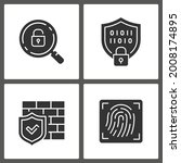 cyber security glyph icons.... | Shutterstock .eps vector #2008174895