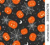 cute hand drawn halloween... | Shutterstock .eps vector #2008206758