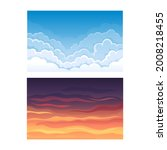 sky scene with clouds drifting...   Shutterstock .eps vector #2008218455