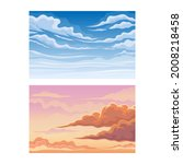 sky scene with clouds drifting...   Shutterstock .eps vector #2008218458