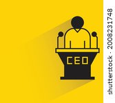 ceo speaker on podium icon on...   Shutterstock .eps vector #2008231748