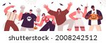 horizontal banner with group of ... | Shutterstock .eps vector #2008242512
