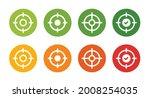 target icon set  aim  focus... | Shutterstock .eps vector #2008254035