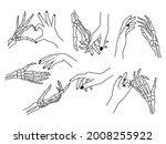 set of hand gestures.... | Shutterstock .eps vector #2008255922