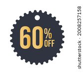 blue discount tag  60   sixty...   Shutterstock .eps vector #2008257158