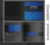 brochure template design. ... | Shutterstock .eps vector #200829032