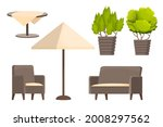 backyard furniture set ...   Shutterstock .eps vector #2008297562