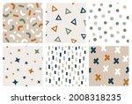 hand drawn geometric seamless... | Shutterstock .eps vector #2008318235