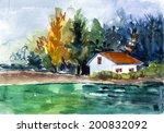 Picturesque White Village Hous...