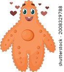 the image of a cute starfish.... | Shutterstock .eps vector #2008329788