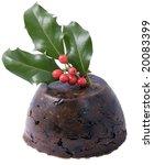Christmas Pudding Isolated On...