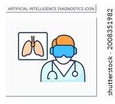 ai in medicine color icon....   Shutterstock .eps vector #2008351982