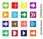 arrow sign icon set isolated on ... | Shutterstock .eps vector #200836322