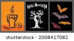 halloween symbols hand drawn...   Shutterstock .eps vector #2008417082