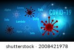 coronavirus covid 19 beta ... | Shutterstock .eps vector #2008421978