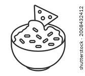corn tortilla chips dipped... | Shutterstock .eps vector #2008432412