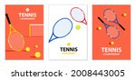 tennis tournament posters.... | Shutterstock .eps vector #2008443005