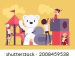 kindergarten playground fun ... | Shutterstock .eps vector #2008459538